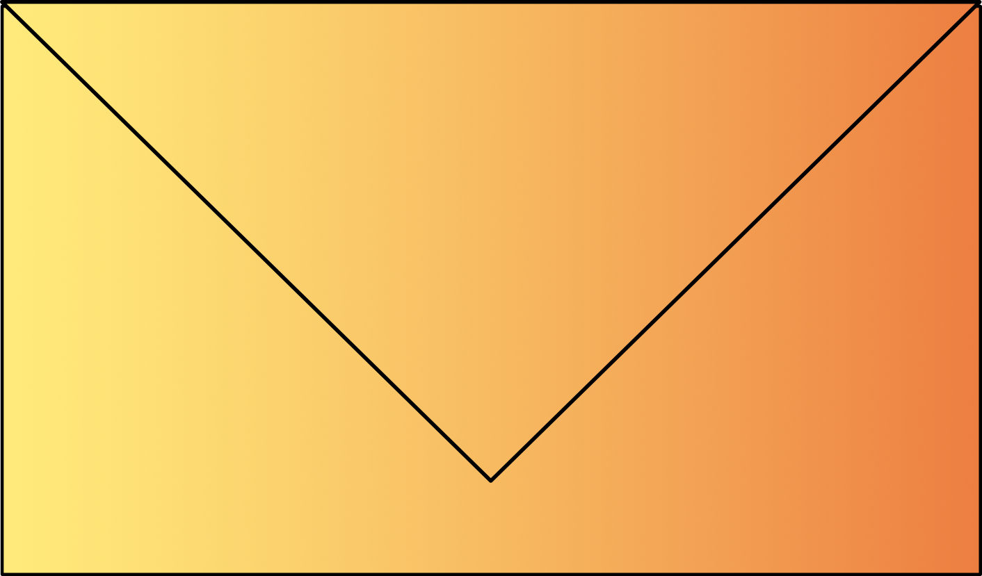 Small graphic icon in the shape of a yellow envelope